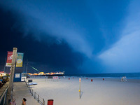 Shelf Cloud over the Boardwalk