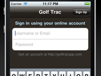 Golf Trac: iPhone Login