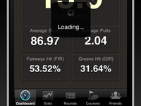 Golf Trac: iPhone Dashboard (updated)