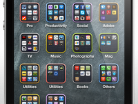 iOS 7 folders border colors