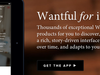 Wantful for iPad Landing Page
