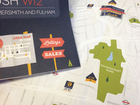 London map & story illustration direct mail 2