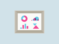 Infographics frame illustration