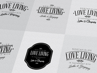 Love Living logo mark / initial designs...