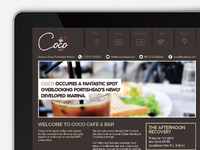 Coco cafe bar web design layout & icon set
