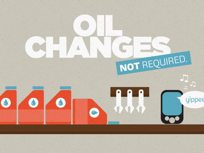 Oil changes - Not required illustration