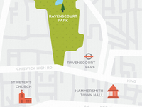 London map illustration & Icon development 1