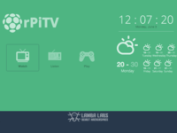 RaspberryPi TV - Flat design