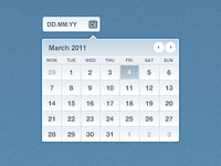 Clean Metallic Datepicker