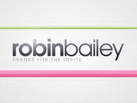 Thank You Robin Bailey