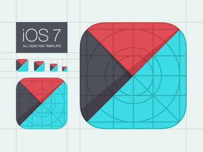 Download Template for iOS 7 App Icons