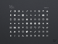 16s - UI Iconset Part II