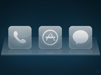 iOS Glass Dock Icons