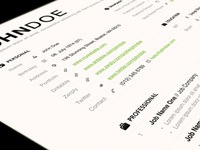 Clean + Simple Resume
