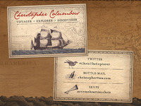 Christopher Columbus Business Card Concept