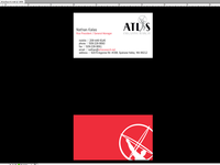 Atlas Search business card design