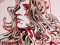 Patti Smith - Screenprint Detail
