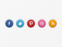 Social Badges Set