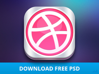 Dribbble Icon (PSD freebie) @2x