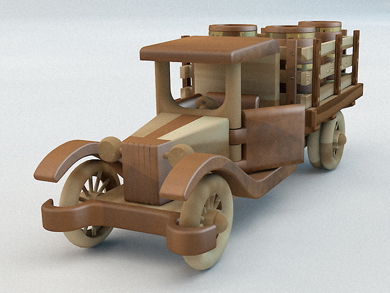 Dribbble - Wooden Toy Car by Runar Finanger