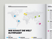 Magazine Infographic Map