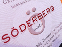Söderberg Wines Business Card
