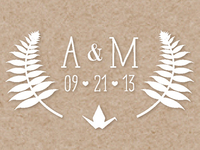 A & M Wedding Monogram
