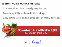 HandBrake download button