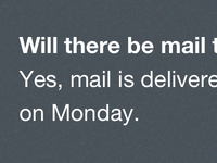 Will there be mail today?