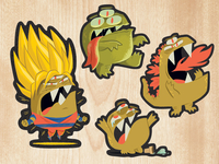 Beast Stickers (Continued)