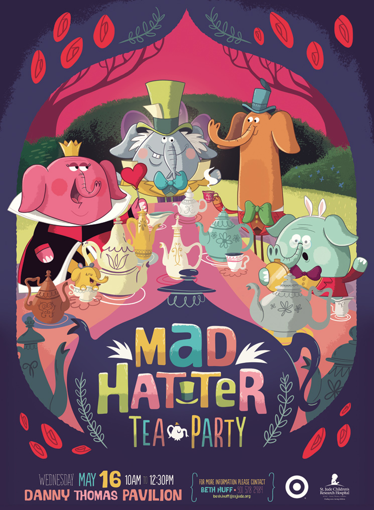 Mad Hatter Tea Party av Christopher Lee