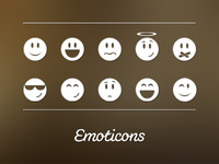 Monochrome Emoticons