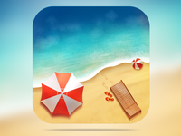 Astur playa App Icon Design