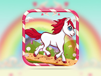 Candy Pony Run Game Graphic Design