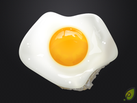 Fried egg - free psd