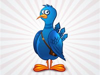 Twitter bird icon - free psd