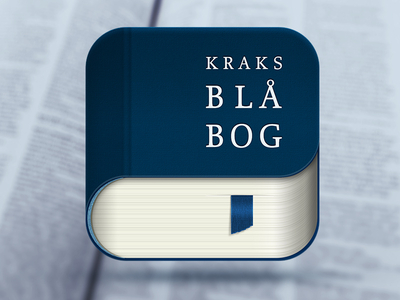 Blue Book, iOS app icon