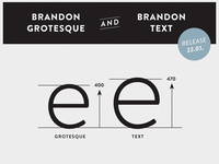 Brandon Grotesque & Brandon Text - x-height