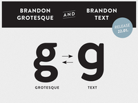 Brandon Grotesque & Brandon Text - g