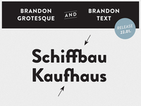 HVD Fonts Brandon Grotesque & Brandon Text - Ligatures