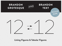 HVD Fonts Brandon Grotesque & Brandon Text - Tab Figures