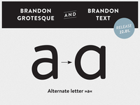 Brandon Grotesque & Brandon Text - a