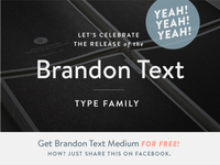 FOR FREE! Brandon Text Medium