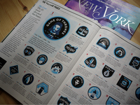 Vulture Badges / New York Magazine