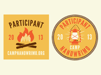 Camp NaNoWriMo Web Badges