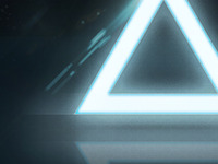 Illuminated Triangle Wallpaper