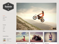 Bulletin Blogging WordPress Theme