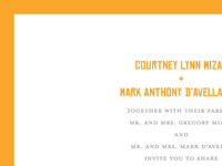 Mark & Courtney Wedding Invitation Close Up