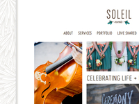 Soleil Events Website