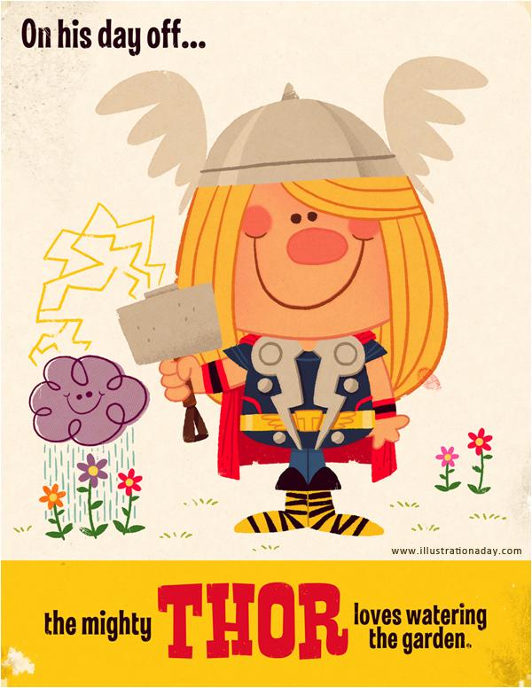 Thor as a child-like